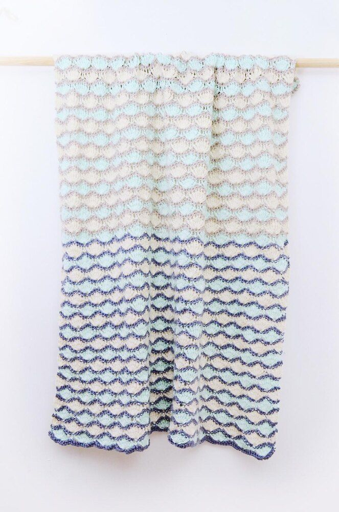 Sea crochet blanket