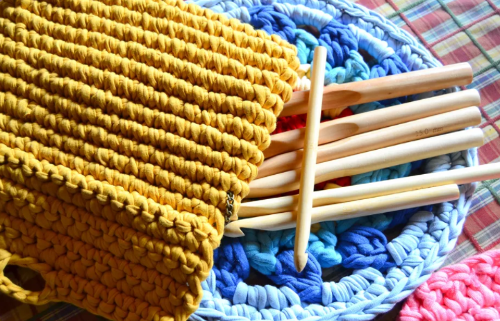 Step by step dish cloth in crochet