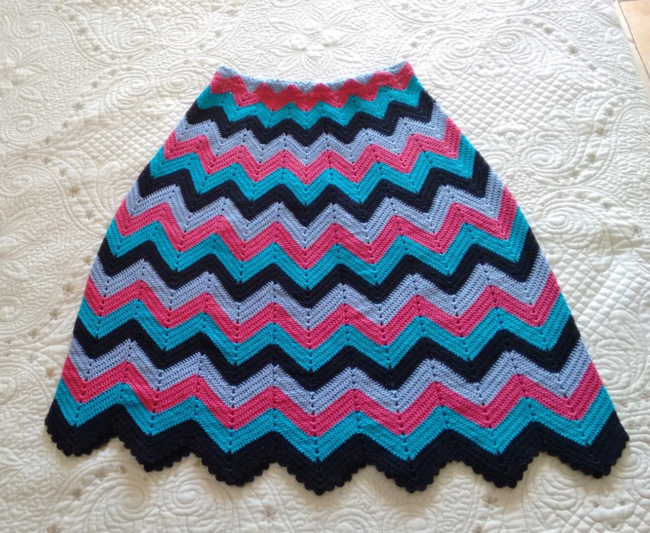 Chevron crochet skirt