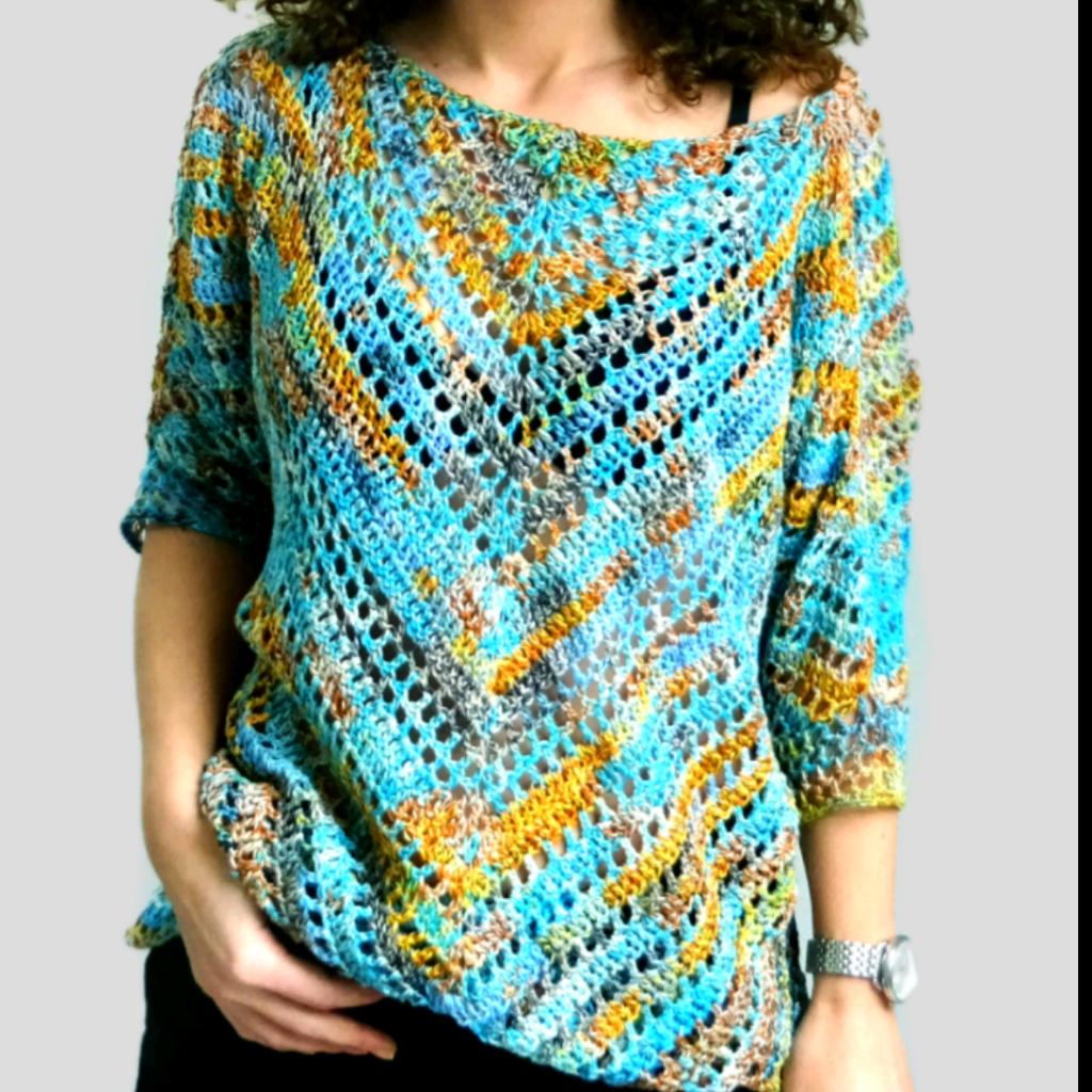 Starry night blouse in crochet