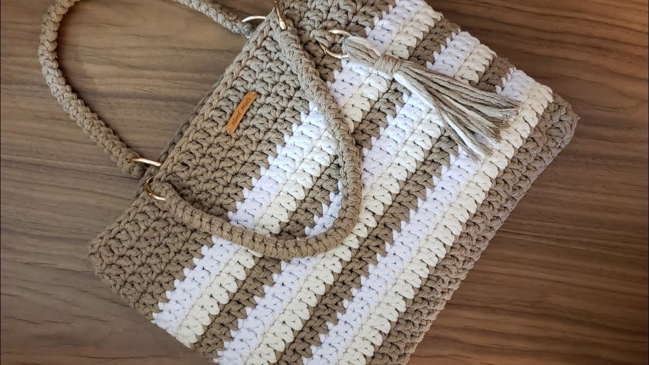 Crochet Bag Tutorial with String