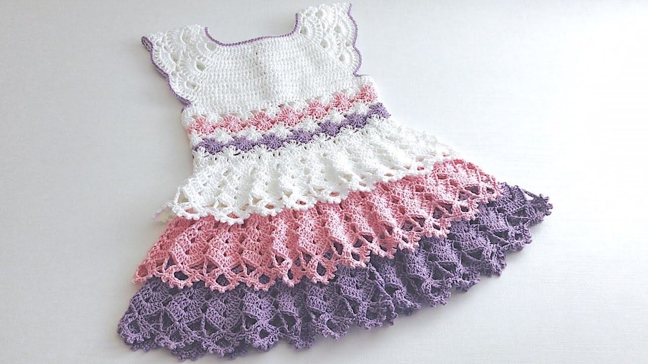 Crochet Isa women's children's dress