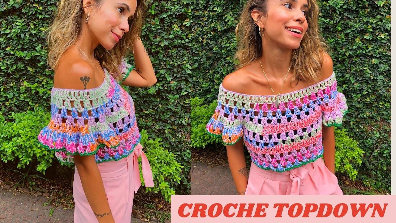 Cropped crochet gypsy model