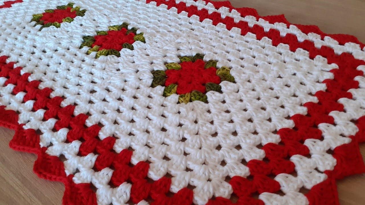 Simple crochet rug
