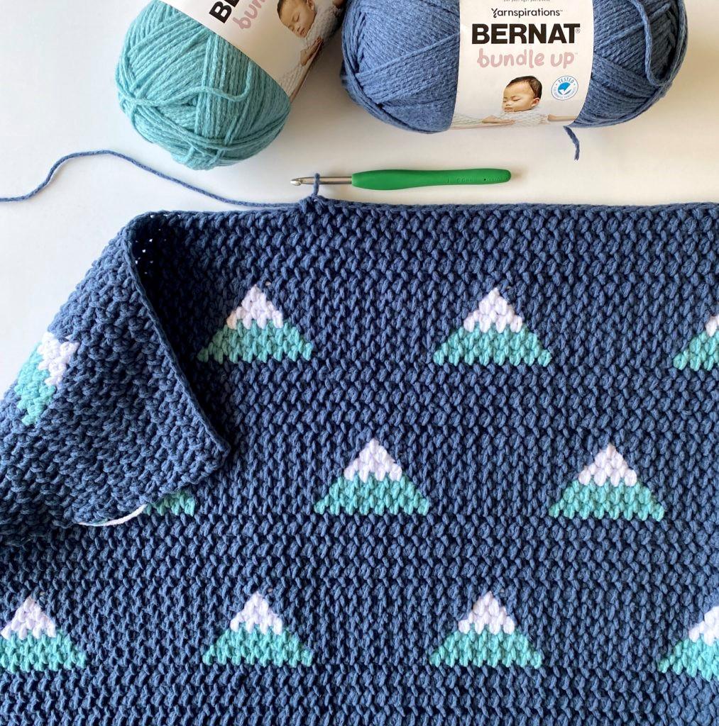 Mountain Crochet Blanket