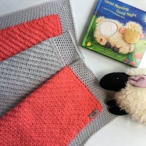 Blanket in crochet Tunisian Dylan