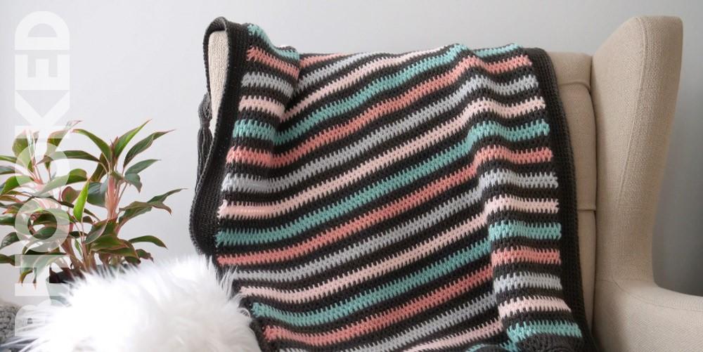 Tunisian crochet blanketn